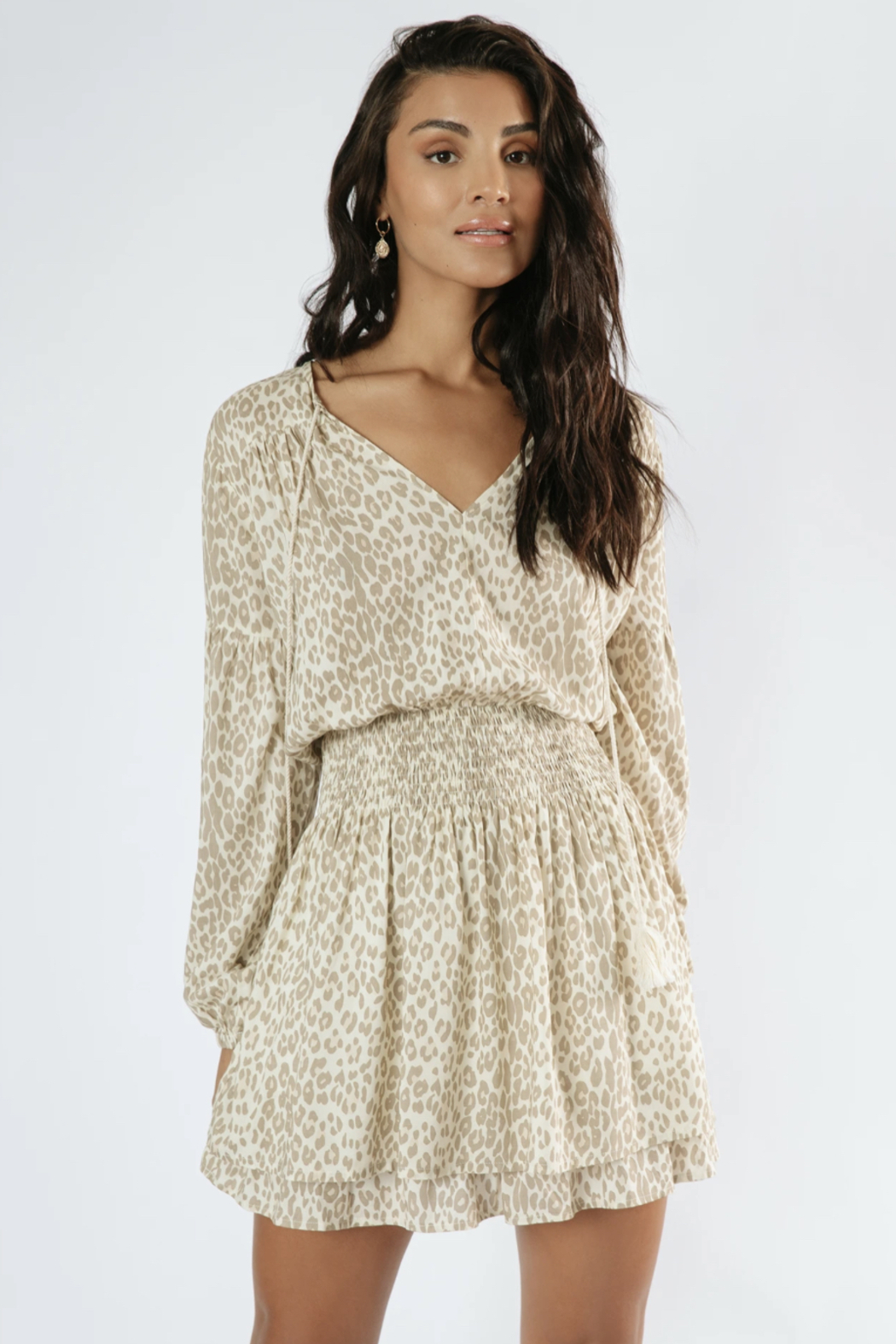 Girl in the Sun Lush Life Dress in Leopard - Back Cropped Image