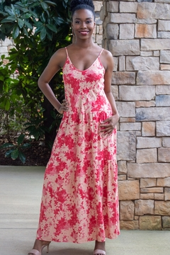Shoptiques Product: Lush Life Floral Flounce Maxi Dress