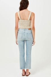 Lush Linen Floral Embroidered Crop Top - Back cropped