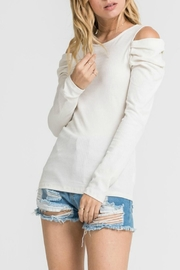 Lush Long Sleeve Cold-Shoudler - Front cropped