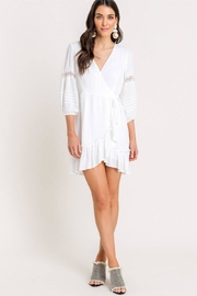 Lush Long-Sleeve Wrap Dress - Product Mini Image