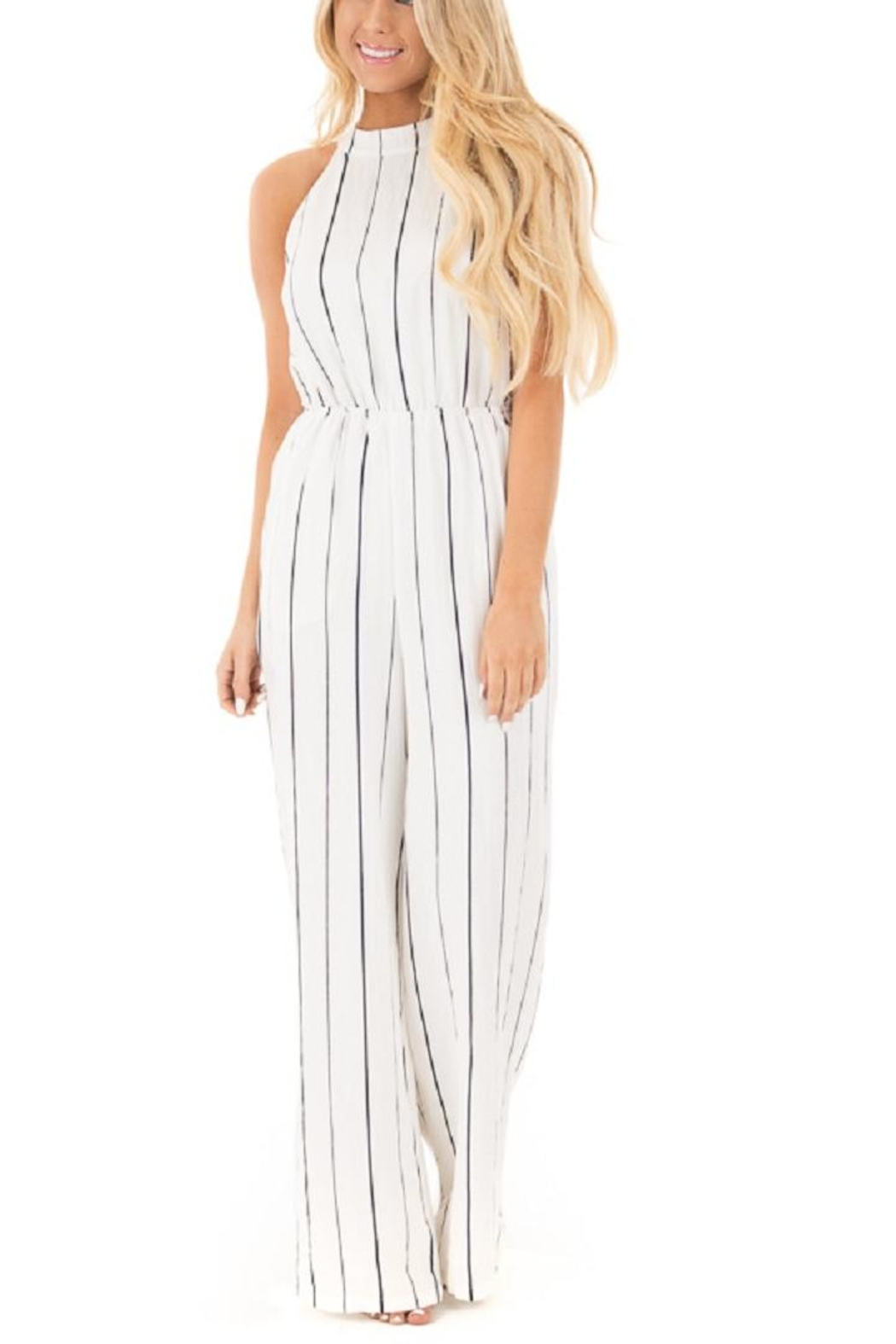 Lush Striped Jumpsuit - Main Image