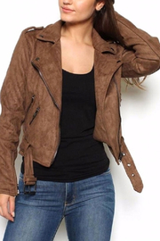 Lush Mocha Biker Jacket - Product Mini Image