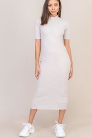 Lush Mock-Neck Midi Dress - Product Mini Image