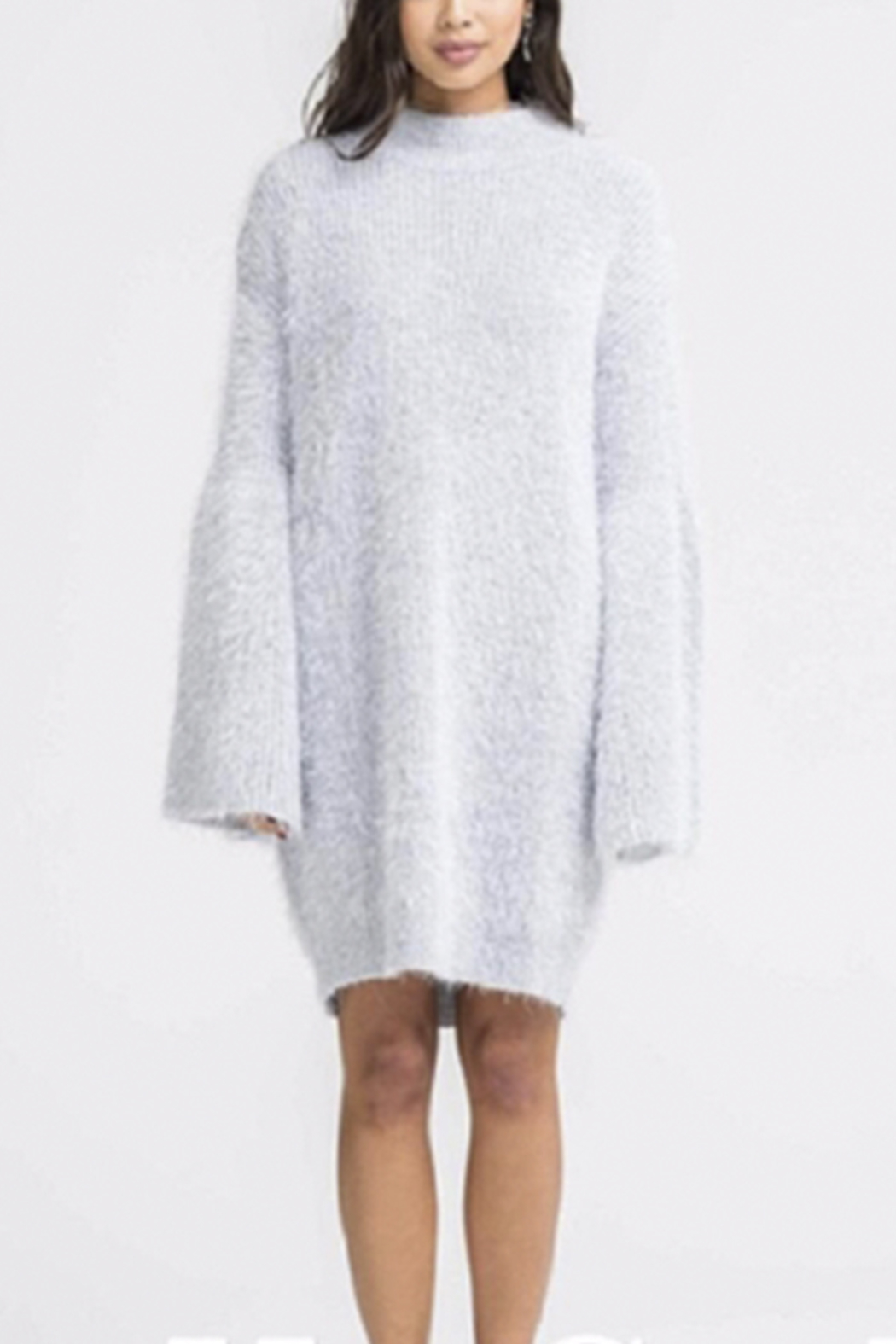 Lush Mock Neck Sweater - Front Cropped Image