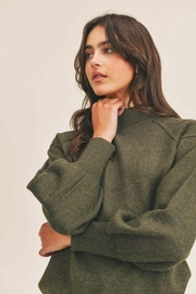 Lush Mock Neck Sweater - Other