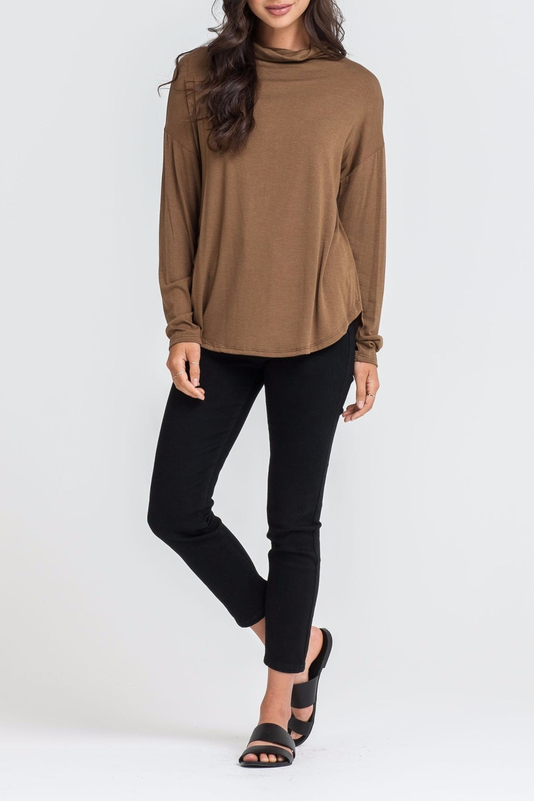 Lush Mock Neck Top - Front Cropped Image
