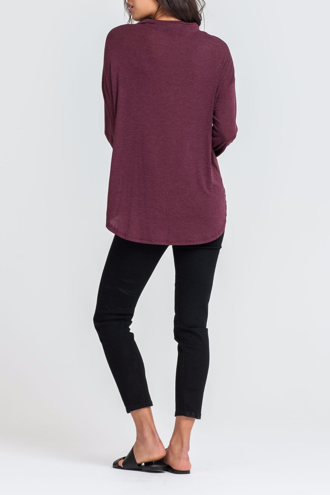 Lush Mock Neck Top - Front Full Image