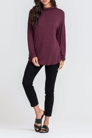Lush Mock Neck Top - Front cropped