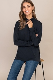 Lush  Mock Turtle Neck Top - Front cropped