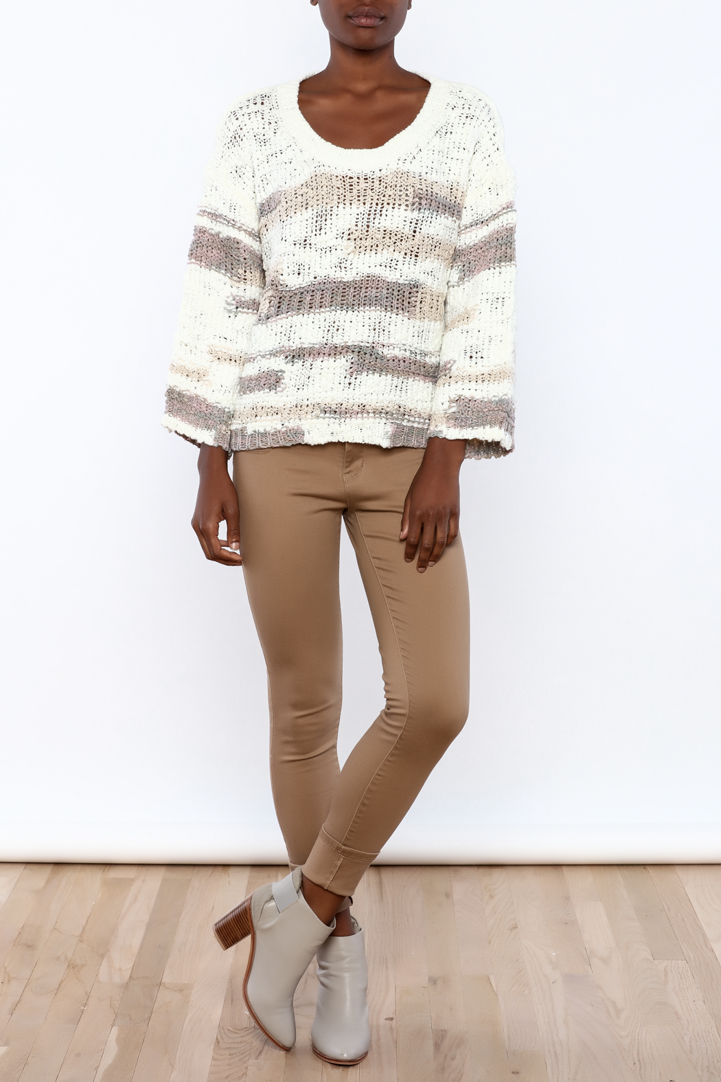 Lush Loose Knit Sweater - Front Full Image