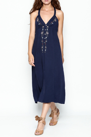 Lush Navy Midi Dress - Product Mini Image