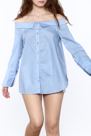Lush Blue Off Shoulder Top - Product Mini Image