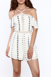 Lush White Globetrotter Romper - Product Mini Image