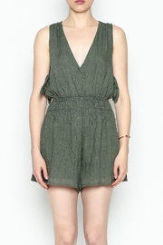 Lush Olive Green Romper - Front cropped
