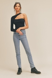 Lush One Shoulder Knit Top - Side cropped