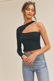 Lush One Shoulder Knit Top - Other