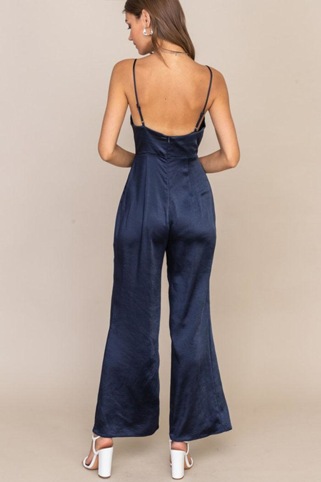 Lush Open Back Jumpsuit - Front Full Image