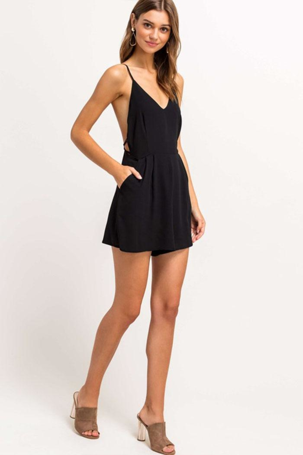 Lush Open Back Romper - Side Cropped Image