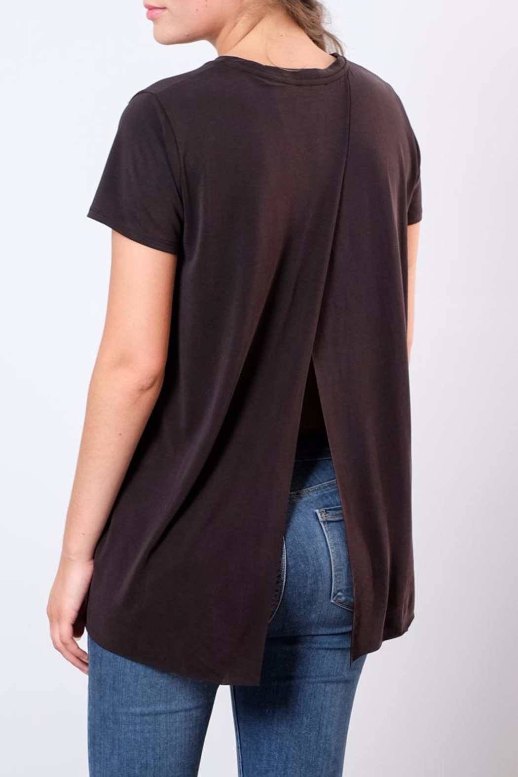 Lush Open Back Tee - Front Cropped Image