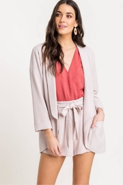 Lush Open-Front Blazer, Violet - Front cropped