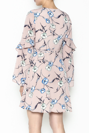 Lush Pale Pink Floral Dress - Back cropped