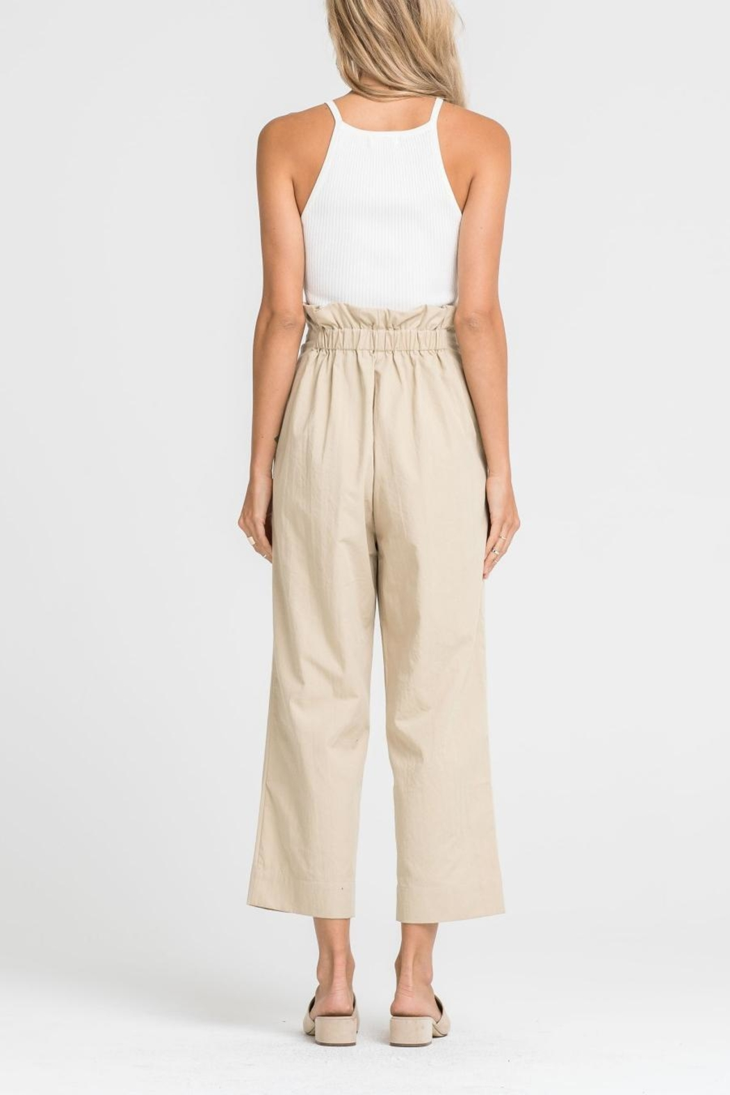 Lush Paper-Bag Waist Pants - Side Cropped Image