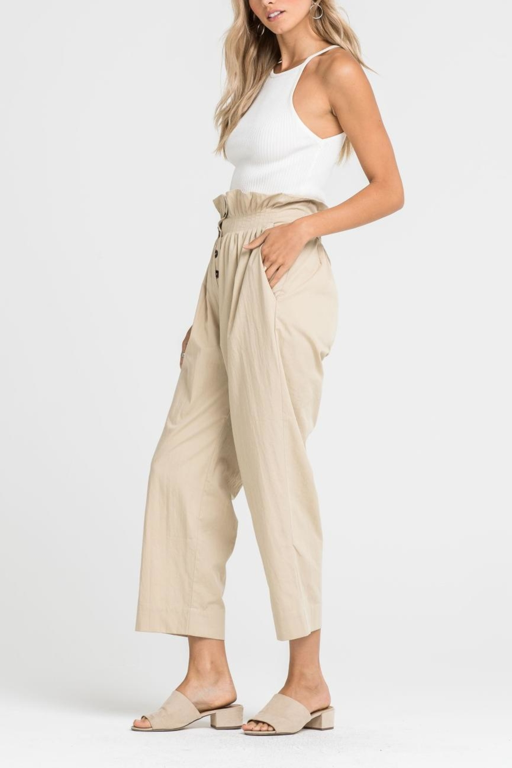 Lush Paper-Bag Waist Pants - Main Image