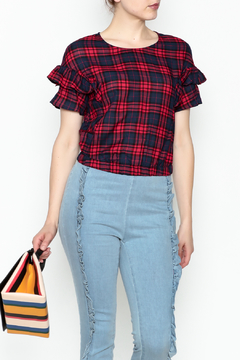 Shoptiques Product: Plaid Crop Top