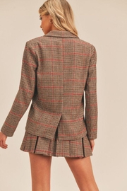 Lush Plaid Pleated Skirt - Side cropped