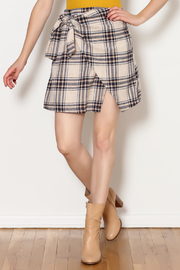 Lush Plaid Skirt - Product Mini Image
