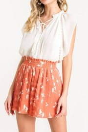 Lush Pleated Cocktail Shorts - Front cropped