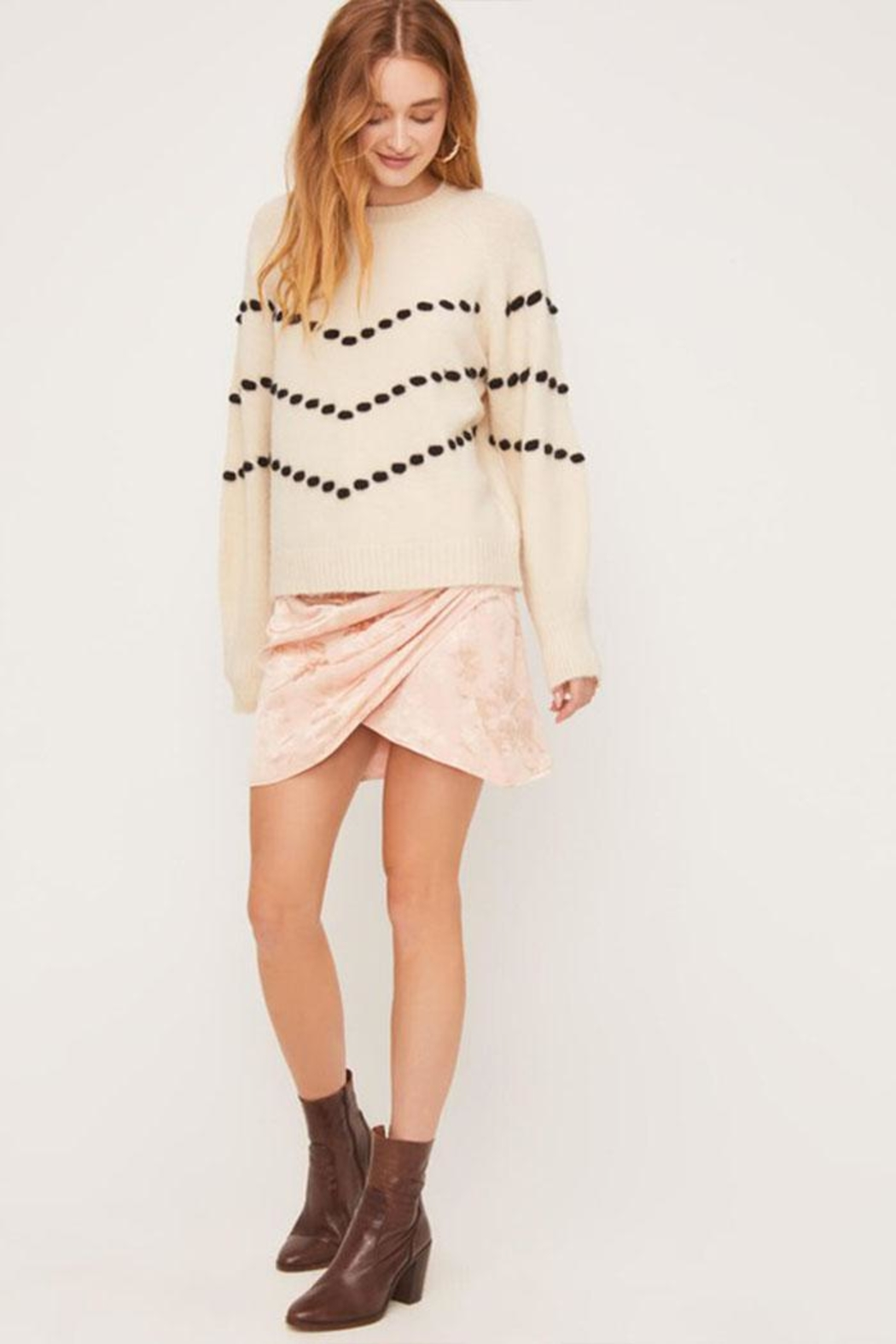 Lush Pom-Pom Detail Sweater - Front Full Image