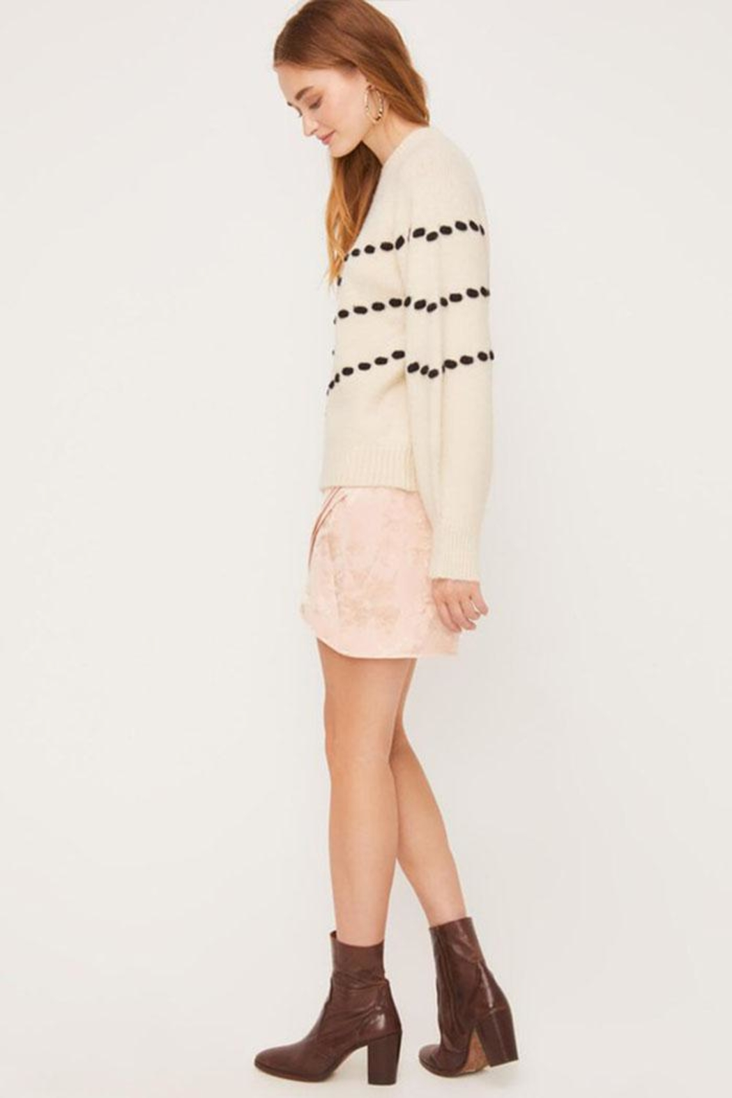 Lush Pom-Pom Detail Sweater - Back Cropped Image