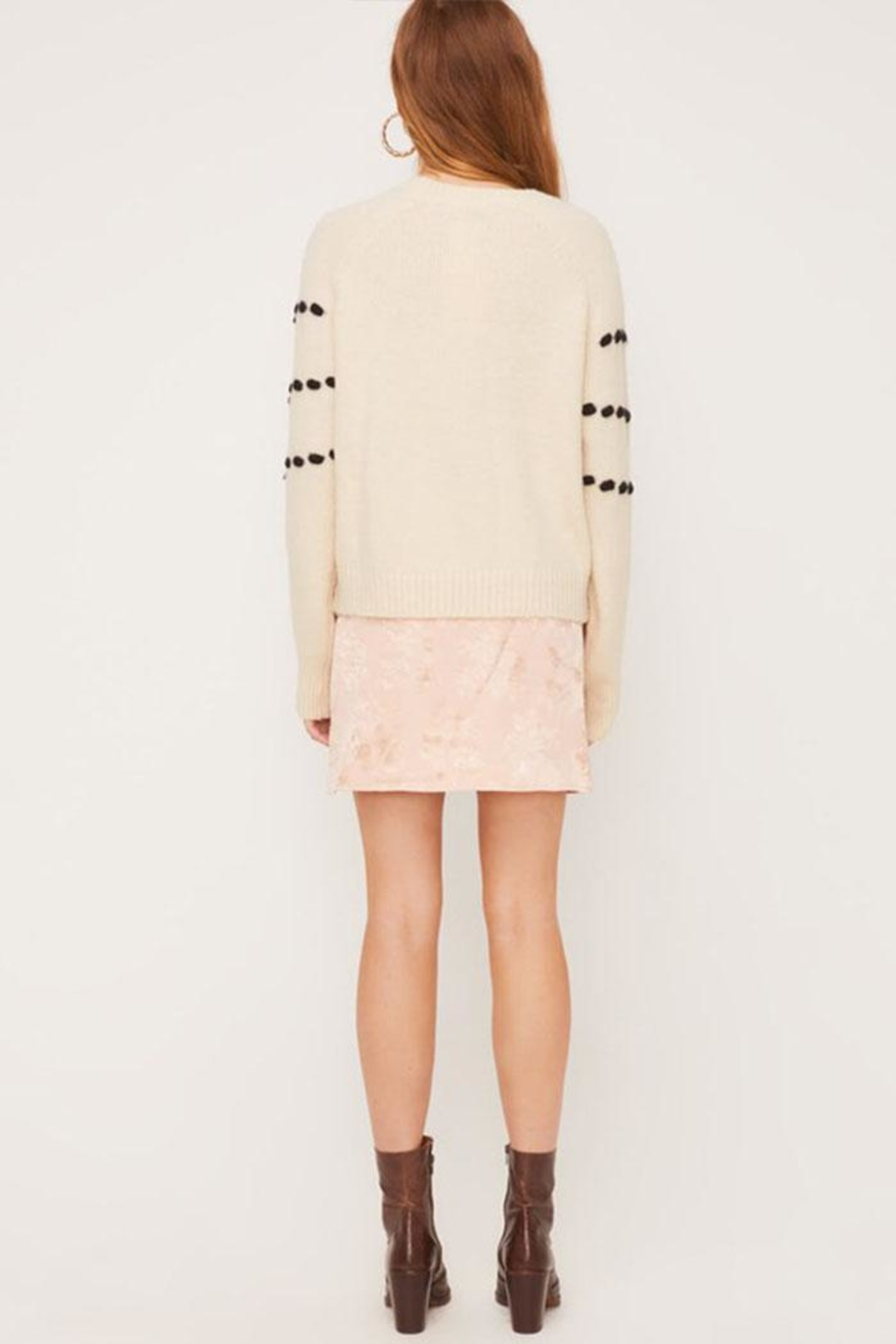 Lush Pom-Pom Detail Sweater - Side Cropped Image
