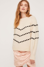 Lush Pom-Pom Detail Sweater - Front cropped