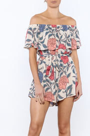 Lush Floral Summer Romper - Product Mini Image