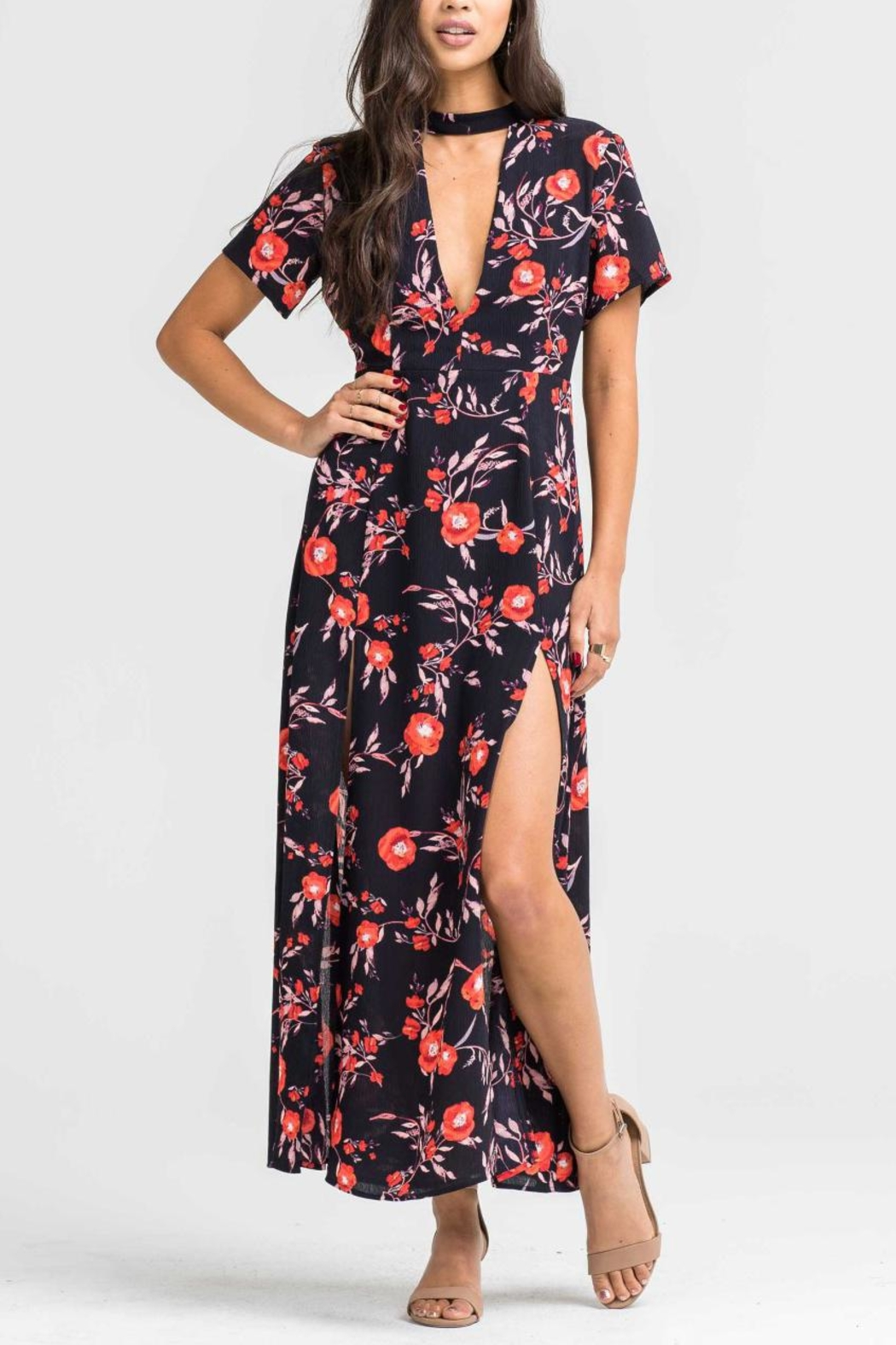 Lush Print Woven Dress - Front Cropped Image