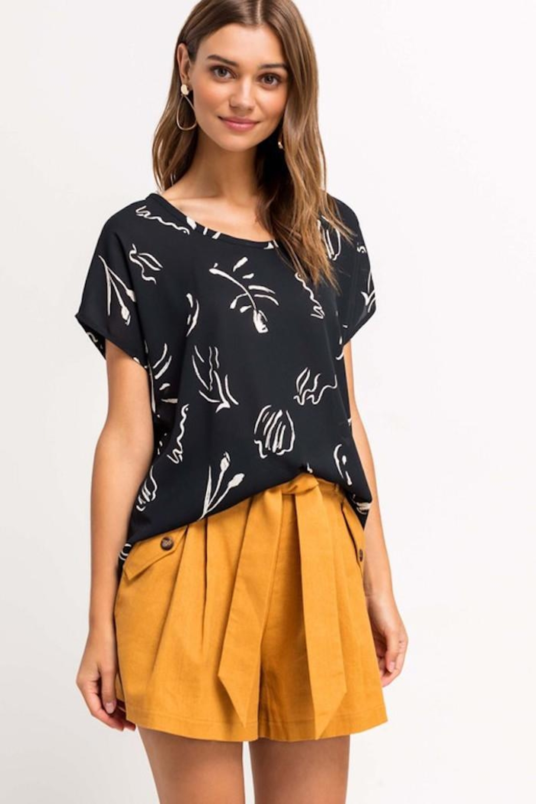 Lush Printed Beauty Top - Front Full Image