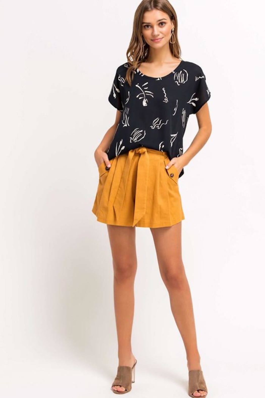 Lush Printed Beauty Top - Front Cropped Image
