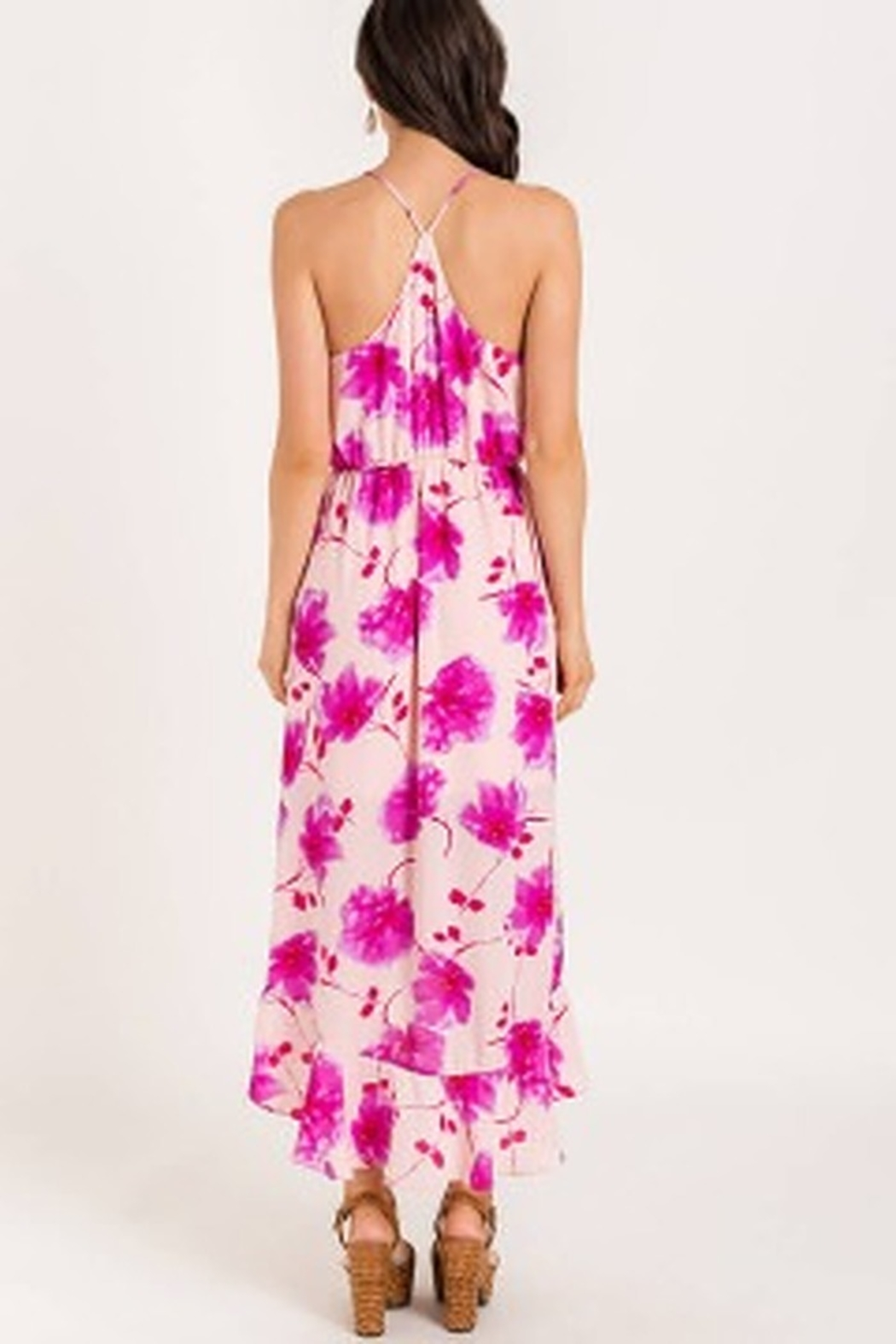 Lush  Printed Floral High-low Cocktail Dress - Side Cropped Image