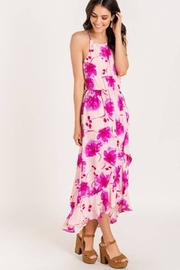 Lush  Printed Floral High-low Cocktail Dress - Front full body