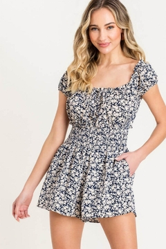 Lush Printed Smocked Romper - Product List Image