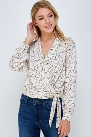 Lush Printed Tie Blouse - Product Mini Image