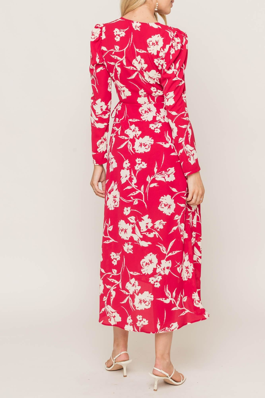 Lush Printed Wrap Dress - Front Full Image