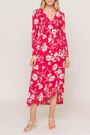 Lush Printed Wrap Dress - Front cropped
