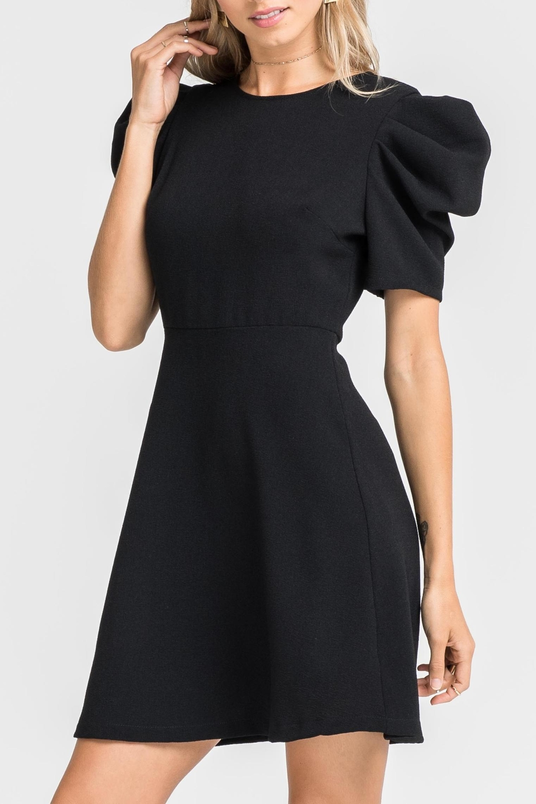 Lush Puff Sleeve Dress - Main Image