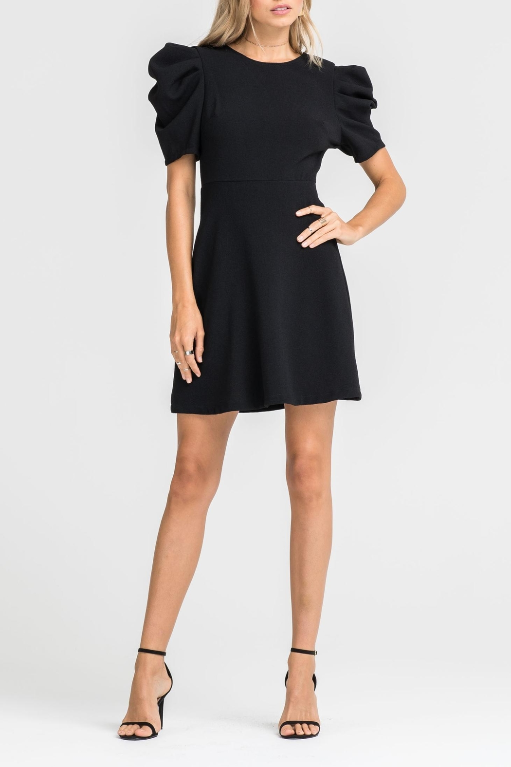 Lush Puff Sleeve Dress - Front Full Image