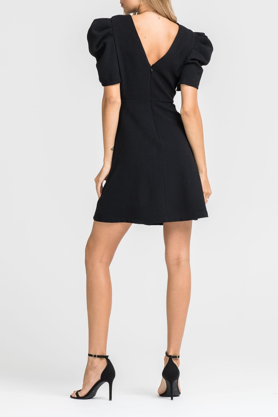 Lush Puff Sleeve Dress - Side Cropped Image