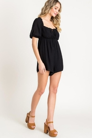 Lush Puff Sleeve Romper - Back cropped